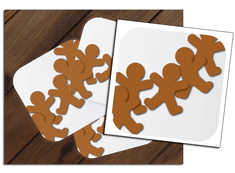 Gingerbread Coasters