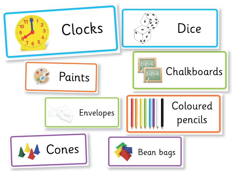 Editable Classroom resources labels set