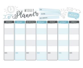 Weekly Work Planner Stay organised with these flexible and easily ...
