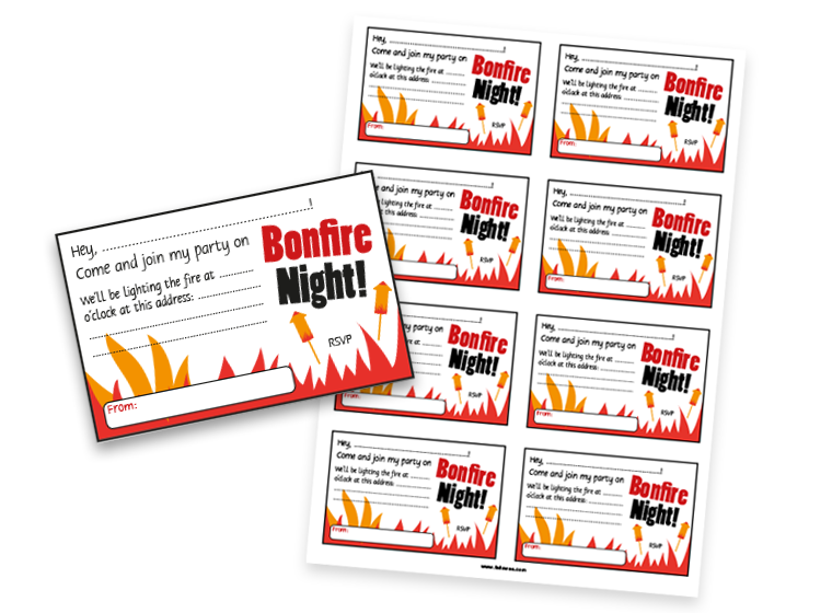 Bonfire Party Invitations