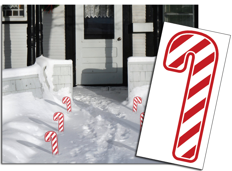 Candy Cane Walkway Template