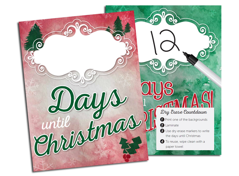 Christmas Count Down Magnet