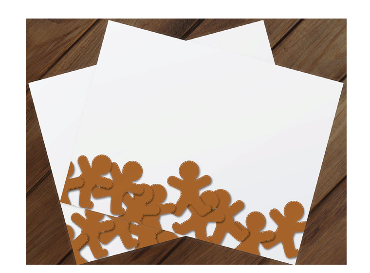 Christmas Gingerbread Men Placemat
