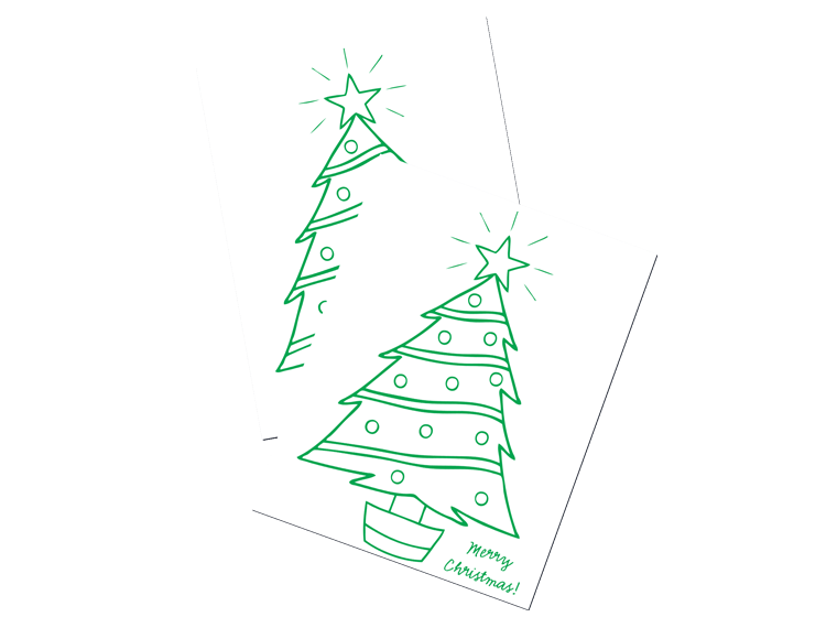 Christmas Tree Colouring Template