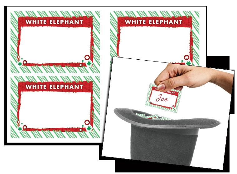 christmas white elephant gift tags christmas white elephant gift tags - Christmas White Elephant
